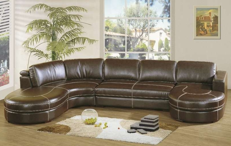 U Shaped Sectional Leather Custom Sofa Recliner Leather Sectional Inside Most Current U Shaped Leather Sectional Sofas (Gallery 8 of 10)