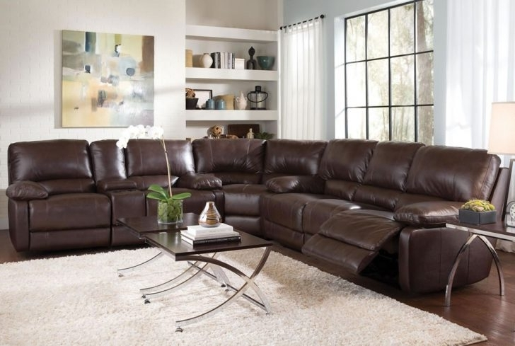 Unique Leather Sectional Sofa With Recliners – Buildsimplehome Throughout Famous Sectional Sofas With Recliners Leather (View 6 of 10)