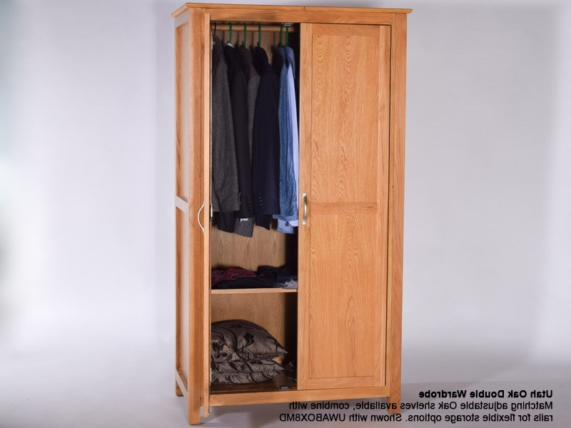 Utah Oak Wardrobe, Double (Boxes 1 3 6) (View 14 of 15)