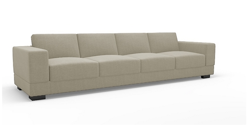 Vanity Four Seater Sofa, Sofas – Hinshitsu Manufacturing Private Regarding Best And Newest Four Seater Sofas (View 8 of 10)