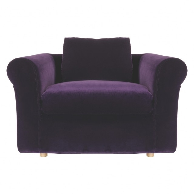 Velvet Purple Sofas Pertaining To Famous Louis Purple Velvet Compact Sofa Bed (View 4 of 10)