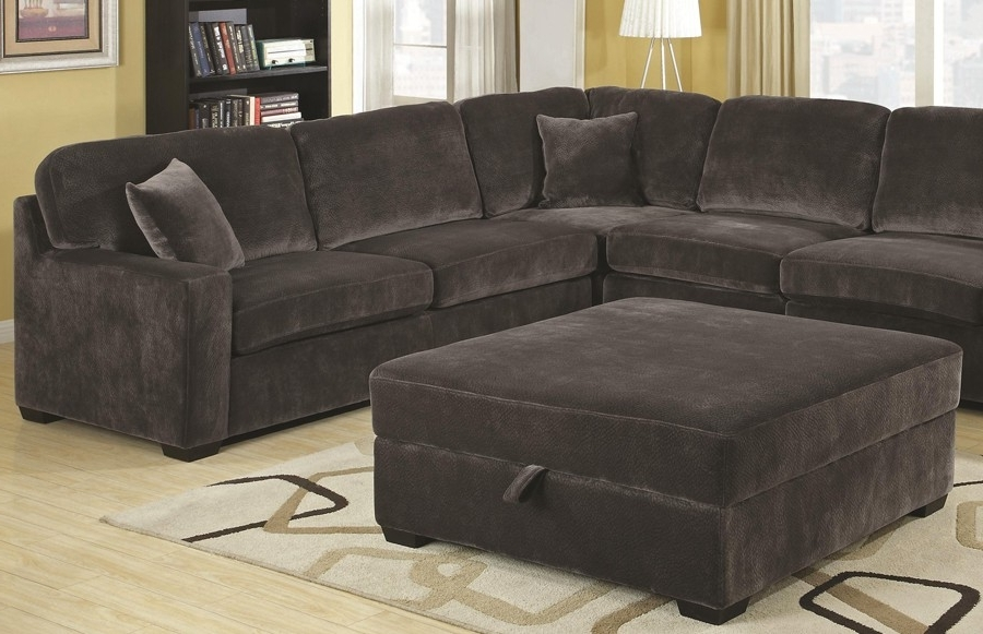Velvet Sectional Sofa, Grey Velvet Sectional Sofa Grey Velvet With Most Popular Velvet Sectional Sofas (Gallery 8 of 10)
