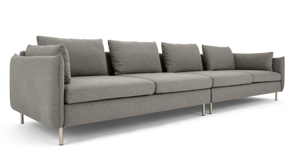 Vento 4 Seater Sofa, Manhattan Grey (View 9 of 10)