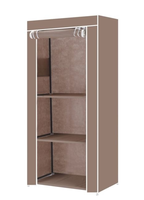 Vinsani Single Canvas Clothes Storage Organiser Wardrobe Cupboard With Latest Single Wardrobes (View 12 of 15)