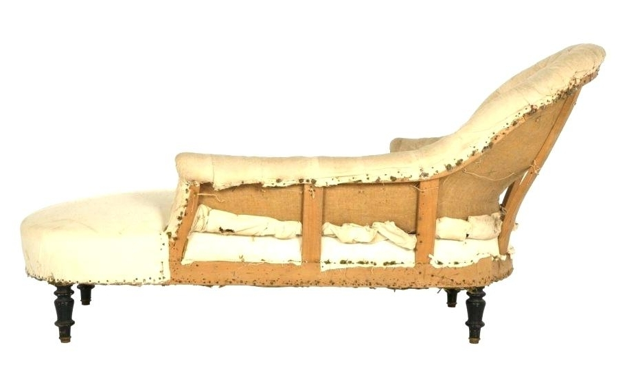 Vintage Chaise Lounge Chair Vintage U Used White S Antique Chaise With Regard To Trendy Vintage Indoor Chaise Lounge Chairs (View 11 of 15)