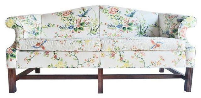 Vintage Floral Chintz Settee Chintz Sofa • Blumuh Design Throughout Trendy Chintz Floral Sofas (View 10 of 10)