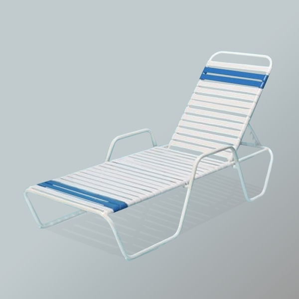Vinyl Strap Patio Chaise Lounges, Pool Lounge Chairs, Commercial Intended For Most Recent Chaise Lounge Chairs For Poolside (Gallery 9 of 15)