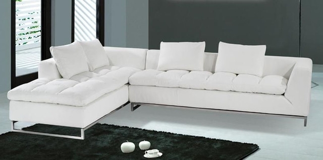 Vt Sectional Sofas With Regard To Popular Captivating Elegant White Leather Sectional Chaise Modern On Sofas (View 8 of 10)