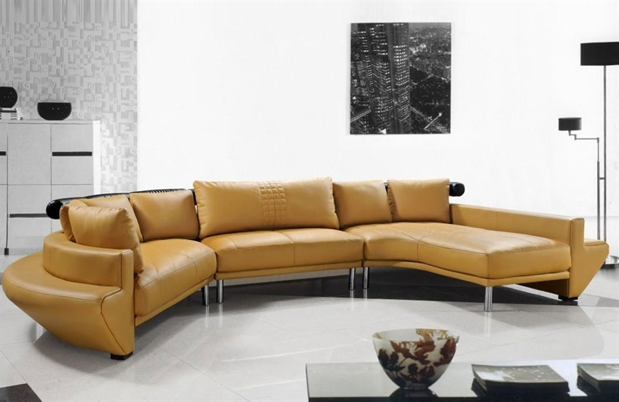 Vt Sectional Sofas With Regard To Trendy Amazing Ultra Modern Leather Sectional Sofa Set Tos Lf 2056 Of (View 9 of 10)