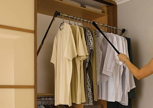Wardrobe And Storage Accessories Within Best And Newest Double Up Wardrobes Rails (View 12 of 15)
