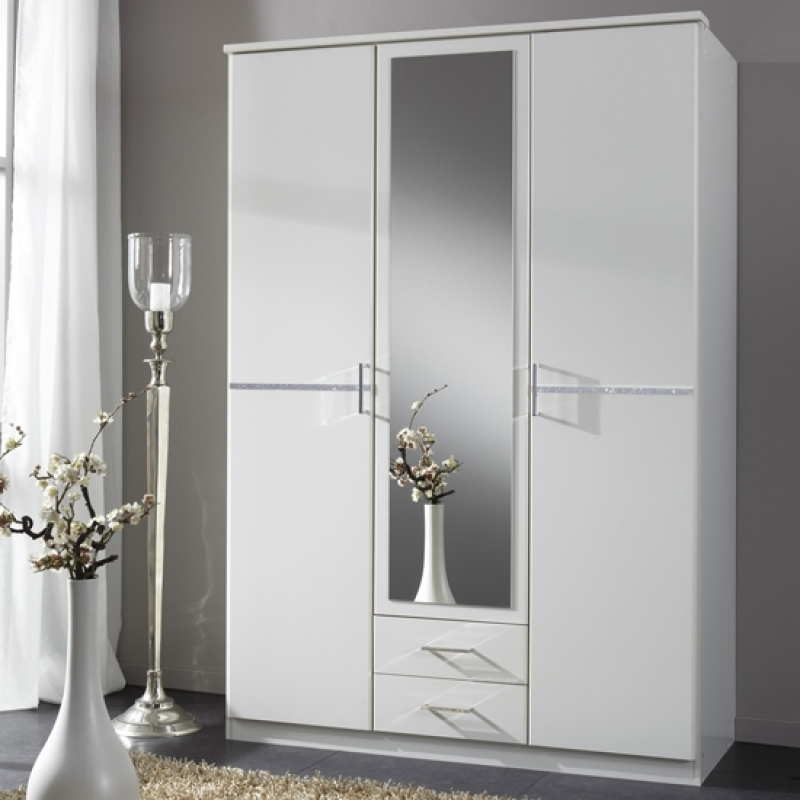 Wardrobe Designs Furniture For White 3 Door Mirrored Wardrobes (View 12 of 15)