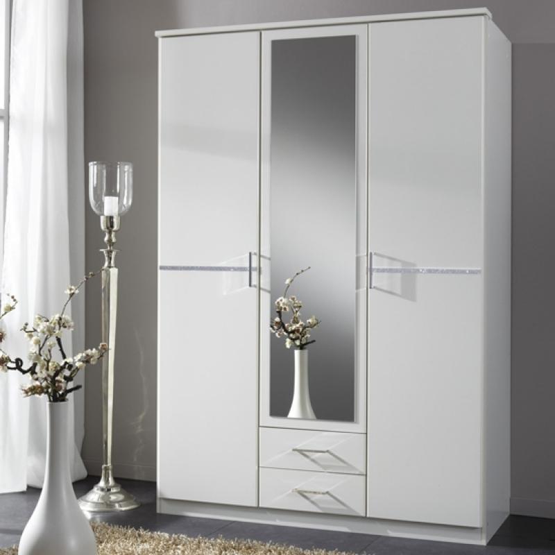 Wardrobe Designs Furniture For White 3 Door Mirrored Wardrobes (View 5 of 15)