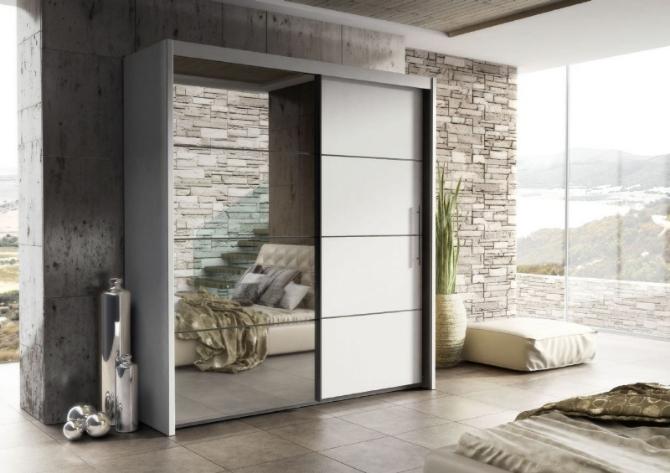 Wardrobe – Inova White 2 Door Sliding Door Wardrobe Slider Inside Fashionable 2 Sliding Door Wardrobes (View 14 of 15)