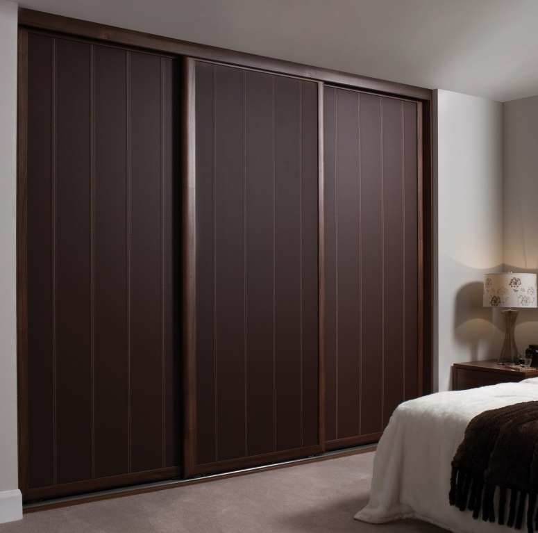 Wardrobe Sliding Doors Hpd437 – Sliding Door Wardrobes – Al Habib Intended For Popular Dark Wood Wardrobes With Sliding Doors (View 13 of 15)