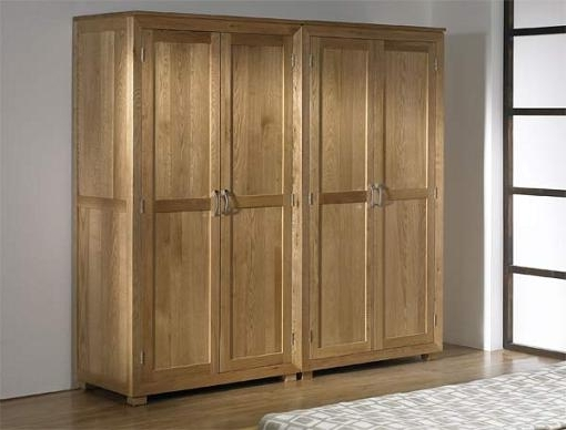 Wardrobes 4 Doors With Well Known Symmetry Oak Bedroom Furniture (View 13 of 15)