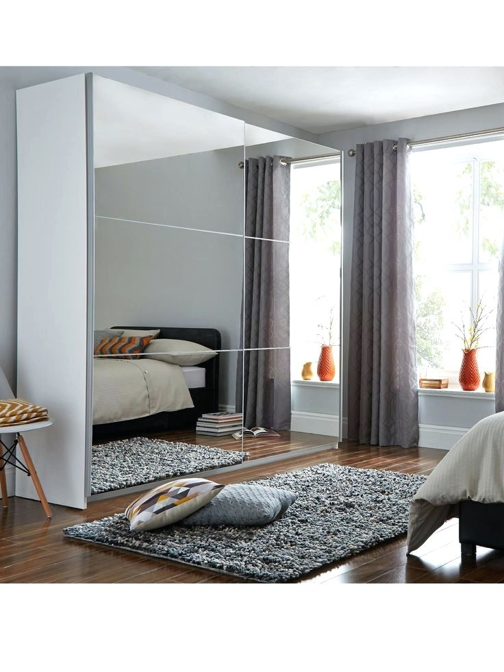 Wardrobes ~ Sliding Mirror Bedroom Wardrobe Doors Universal Large Inside 2018 Cheap Wardrobes With Mirror (View 14 of 15)