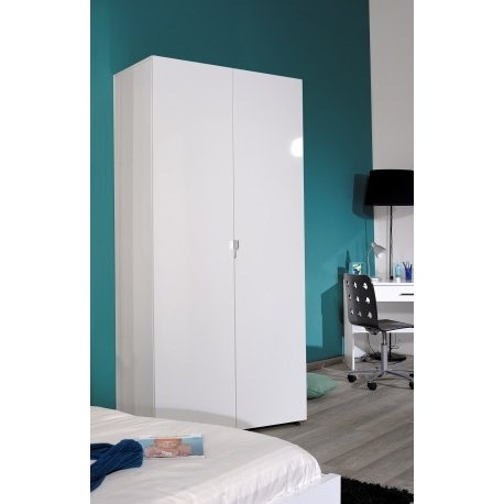 Wardrobes White Gloss Pertaining To Recent First White Gloss 2 Door Wardrobe – Wardrobes – Sena Home Furniture (View 11 of 15)
