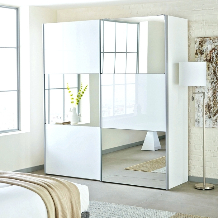 Wardrobes ~ White Sliding Door Wardrobe With Mirror Doors White With Most Recently Released White High Gloss Sliding Wardrobes (View 11 of 15)