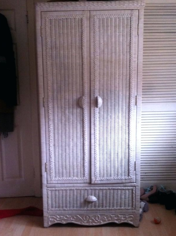 Wardrobes ~ Wicker Twin Bedroom Set From Pier One Imports White Regarding Current White Wicker Wardrobes (View 9 of 15)