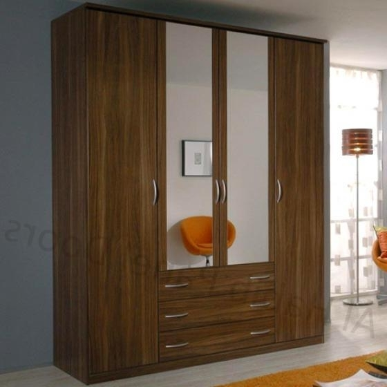 Wardrobes With 4 Doors Inside Fashionable Standing Four Door Wardrobe Hpd519 – Free Standing Wardrobes – Al (View 12 of 15)