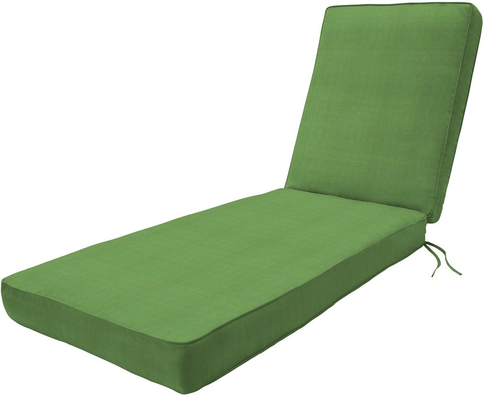 Wayfair Custom Outdoor Cushions Double Piped Outdoor Sunbrella For Well Known Outdoor Chaise Lounge Cushions (View 9 of 15)