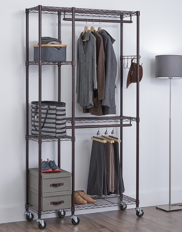 Wayfair Pertaining To Double Clothes Rail Wardrobes (View 13 of 15)