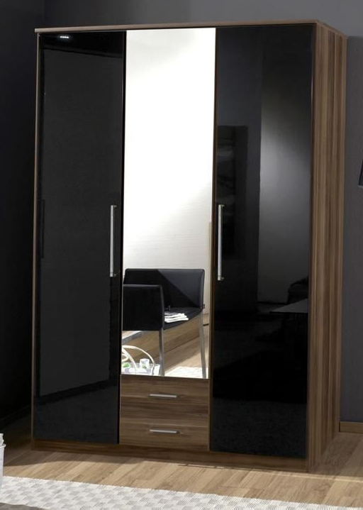 Featured Photo of 3 Door Black Gloss Wardrobes