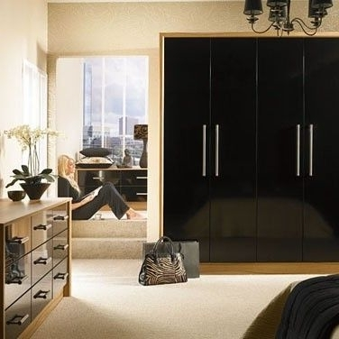 Well Known 37 Best Fitted Wardrobes Images On Pinterest In High Gloss Black Wardrobes (View 5 of 15)