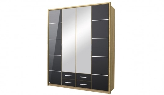 Well Known 4 Door Wardrobes With Mirror And Drawers Pertaining To Mirabel 4 Door + 4 Drawer + 2 Mirror Wardrobe (View 9 of 15)
