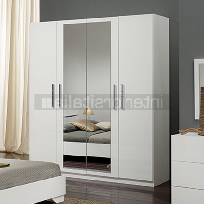 Well Known 4 Door White Wardrobes For Modern Italian Wardrobes (View 15 of 15)