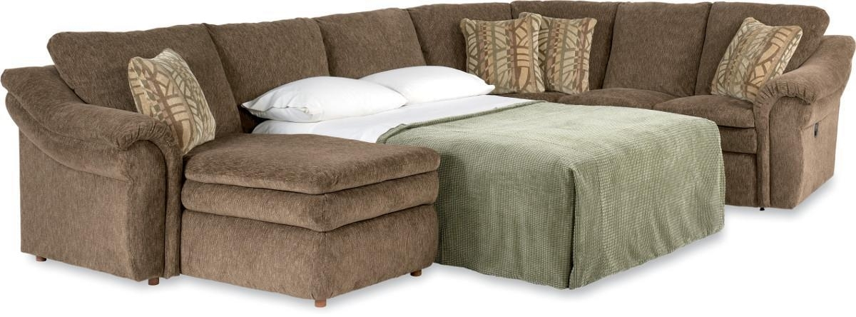Well Known 4 Piece Sectional Sofa With Ras Chaise And Full Sleeperla Z With Sectional Sofas At Lazy Boy (View 3 of 10)