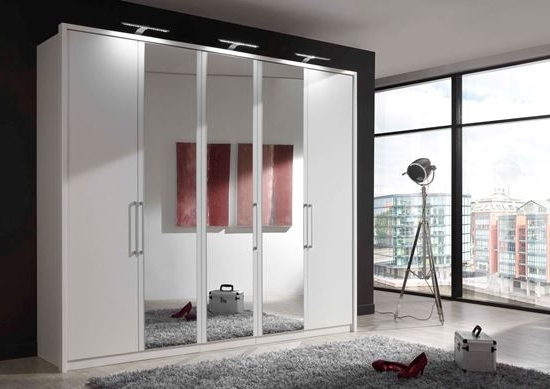 Well Known 5 Door Wardrobes With Linea Design (View 14 of 15)