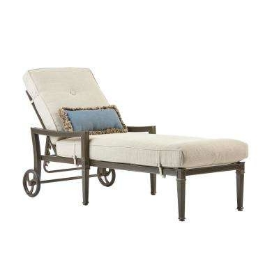 Well Known Aluminum – Outdoor Chaise Lounges – Patio Chairs – The Home Depot Inside Outdoor Cast Aluminum Chaise Lounge Chairs (Gallery 15 of 15)