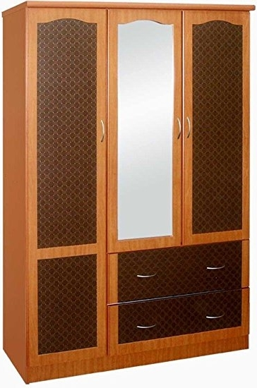 Well Known Amazon : Hoahif441C – Hodedah Import 3 Door Wardrobe With For 3 Doors Wardrobes With Mirror (View 15 of 15)