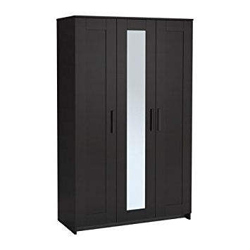 Well Known Amazon: Ikea Wardrobe With 3 Doors, Black 2028. (View 14 of 15)