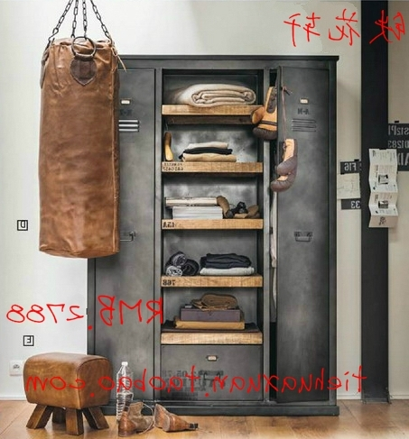 Well Known American Vintage Industrial Metal Wardrobe Cabinets Wardrobe Loft In Industrial Style Wardrobes (View 14 of 15)
