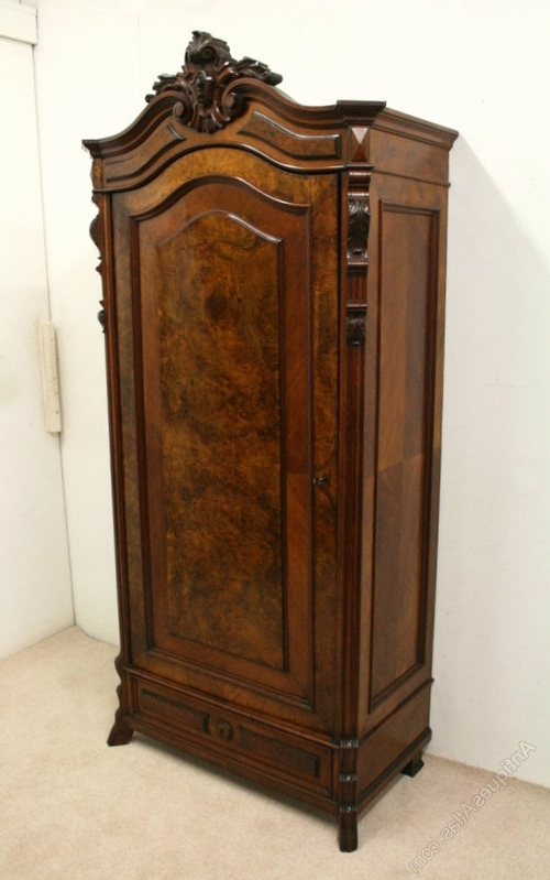 Well Known Antique Single Wardrobes Intended For Ideas Of Single Door Armoire Wardrobe Wardrobes Single Door (View 14 of 15)