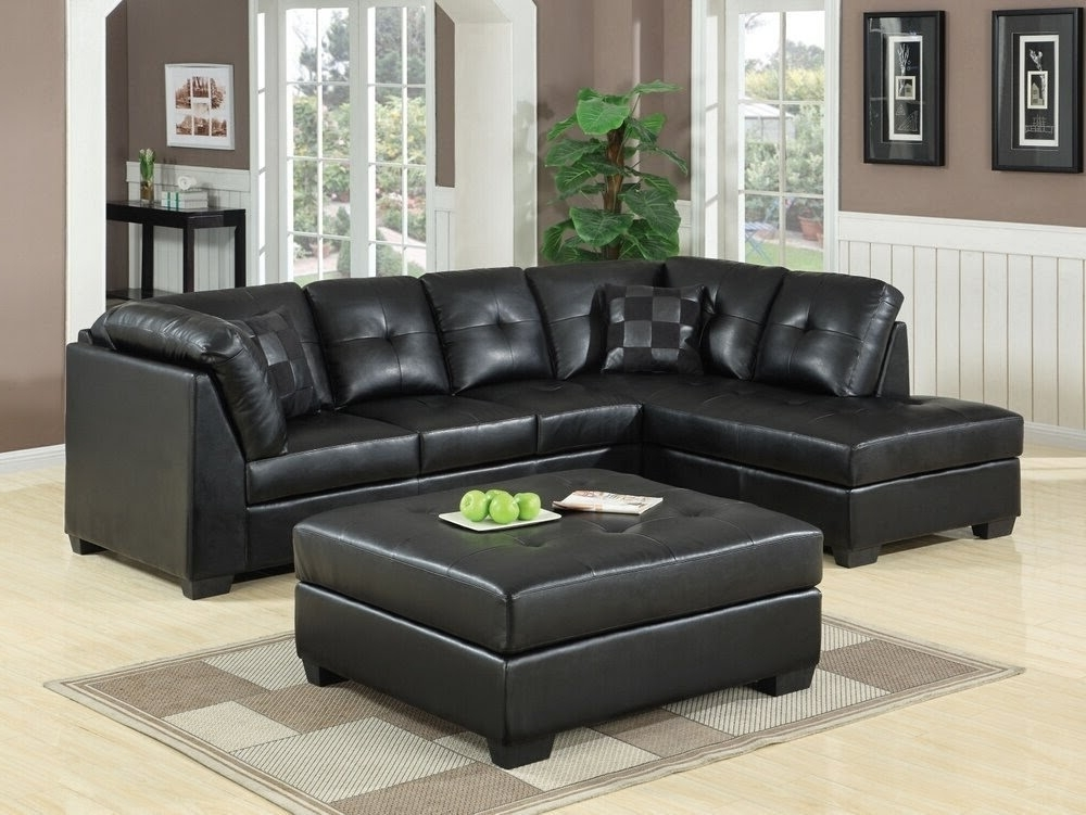 Well Known Awesome Appealing Black Leather Sectional With Chaise Couch For Within Black Leather Sectionals With Chaise (View 15 of 15)