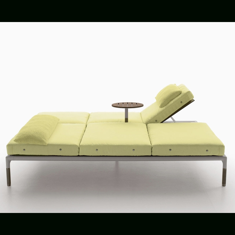 Well Known B&b Italia – Springtime – Double Chaise Lounge With Four Reclin For Outdoor Double Chaises (View 15 of 15)