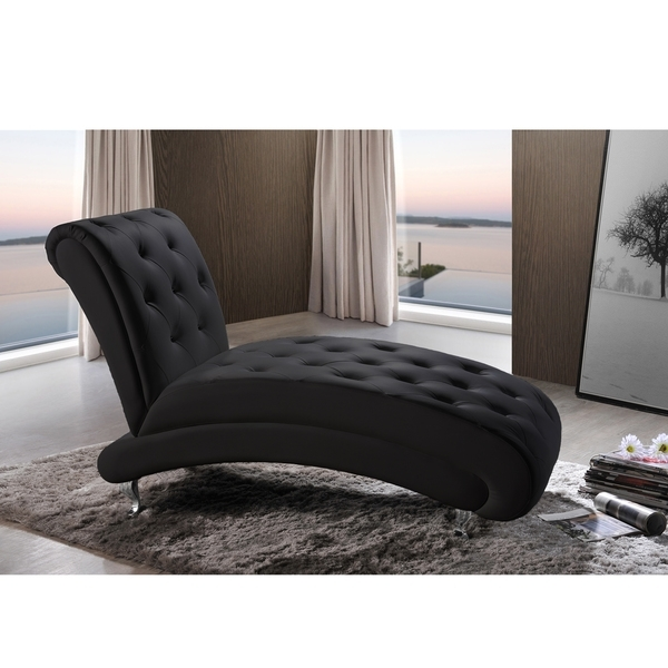 Well Known Black Leather Chaise Lounge Chairs Intended For Sofa (View 13 of 15)