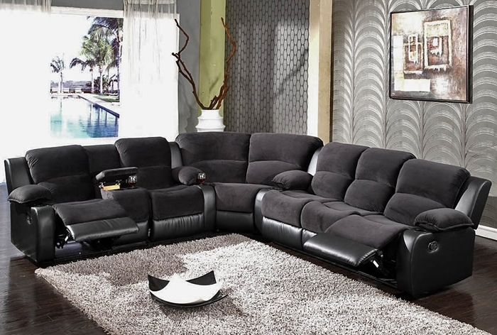Well Known Black Sectional Sofas With Regard To Sofa Beds Design: Wonderful Ancient Black Sectional Sofa With (View 10 of 10)