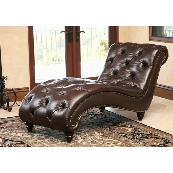 Well Known Brown Leather Chaise Lounges Regarding Impressive Brown Chaise Lounge Abson Living Carmela Dark Brown Top (View 14 of 15)