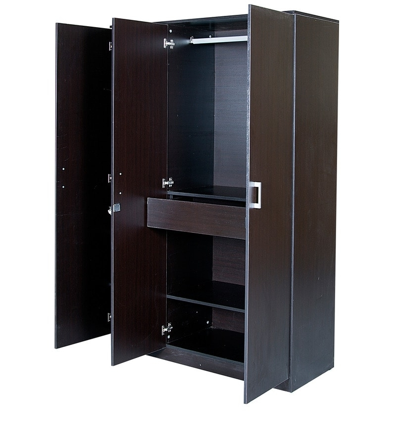 Well Known Buy Prime Three Door Wardrobe In Wenge Colourhometown Online Within 3 Door Wardrobes (View 15 of 15)