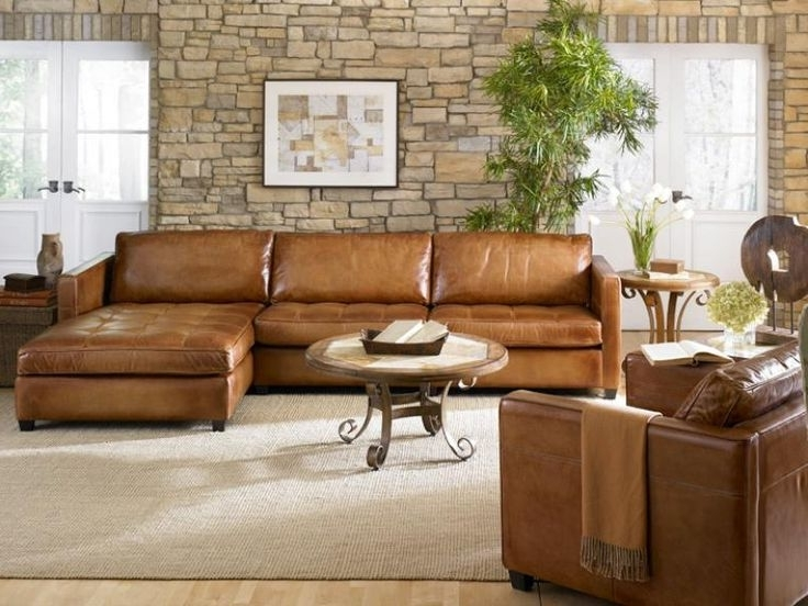 Well Known Camel Colored Sectional Sofas Within Awesome Light Brown Leather Sectional Photos – Liltigertoo (View 9 of 10)