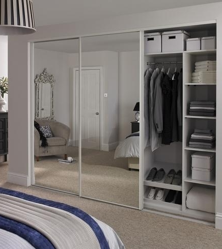 Well Known Cheap Mirrored Wardrobes With Mirrored Wardrobe With Sliding Door Closet Also Panel Door Mirror (View 12 of 15)