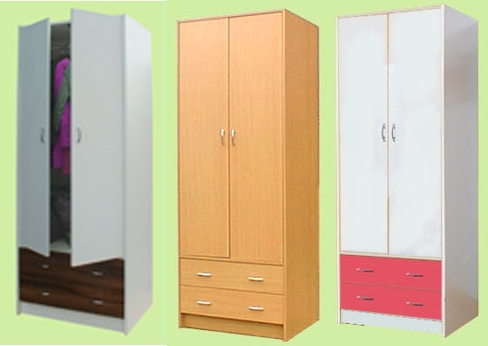 Well Known Cheap Wardrobes And Chest Of Drawers In Wardrobes, Corner Wardrobes And Chest Of Drawers – Beech Or White (View 14 of 15)