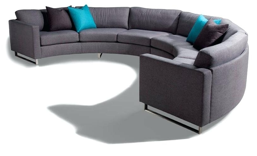 Well Known Circular Couch Circular Sectional Sofa Semi Circular Sofas With Regard To Circle Sofas (View 10 of 10)
