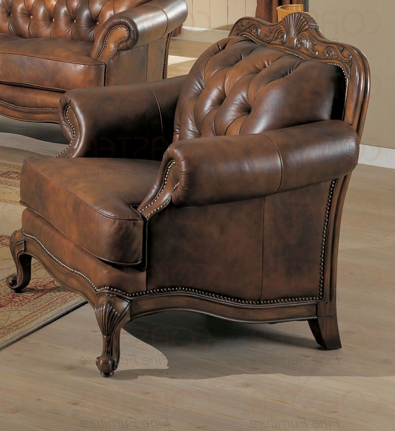 Well Known Coaster Chaise Lounges Pertaining To Coaster Shiloh Leather Accent Chair – Fss Commerce / Zoostores (View 12 of 15)