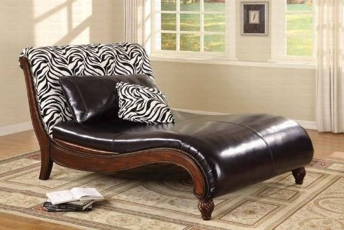 Well Known Coaster Chaise Lounges With Regard To Zebra Animal Print Chaise Loungecoaster  (View 13 of 15)