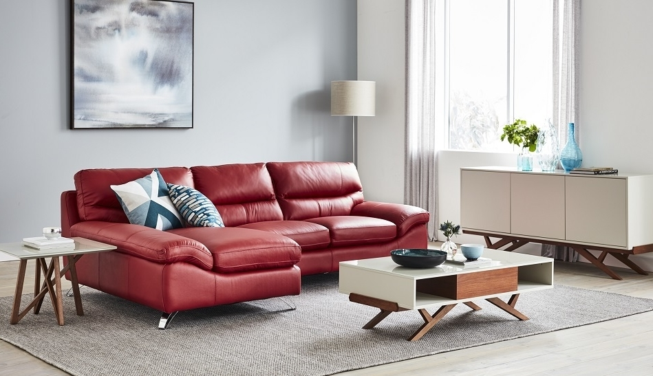 Well Known Corner Chaises Intended For Homemakers Furniture: Leather Lounge – Corner Suites & Chaises (View 9 of 15)